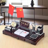 老板办公室桌面摆件装饰品高档文台创意笔筒招财摆设*礼品