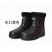 棉雨鞋厨师加绒加厚保暖泡沫鞋防滑一体男女鞋 EVA防水短筒雪地靴
