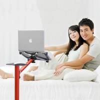 笔记本电脑落地支架懒人床头床上电脑桌平板笔记本支架SN7930 【UP-7 经典银】适合用于10-15寸笔记本电脑