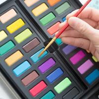 有控生活馆 水彩颜料固体 初学者手绘水粉套装 手账工具画水彩画