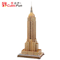 乐立方纸模型立体拼图纽约帝国大厦 北京遇上西雅图拍摄地 MC048