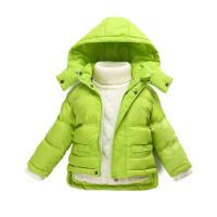 女宝宝羽绒服1-2岁儿童短款轻薄款外套男童装3-4秋冬款婴幼儿