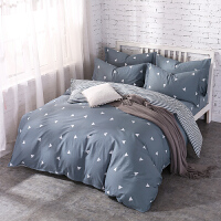 暖意床笠床上床单四件套纯棉1.51.8m床双人被套被子三件套件