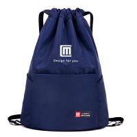 简易户外旅行背包 大容量轻便抽绳双肩包收纳男女通用运动健身包