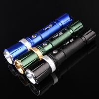 LED强光手电筒 可充电远射王户外打猎防水迷你变焦战术手电
