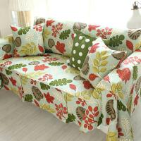 乐唯仕沙发套沙发罩夏季纯棉布艺垫全包盖欧式四季通用防尘巾定做