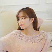 欧丁韩国s925纯银耳钉女韩国时尚星星耳环配饰生日礼物H043