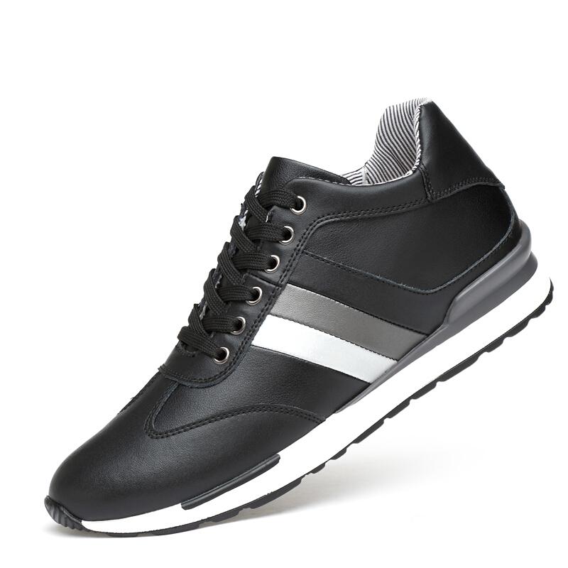 内增高男鞋8cm休闲百搭潮流增高板鞋韩版男士增高皮鞋透气鞋