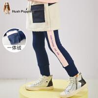 【预估券后价:68元】暇步士童装女童中大童冬季新款一体绒长裤运动修身