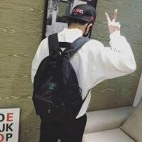 男生双肩包潮韩版校园初中生书包日韩时尚个性青少年电脑背包休闲
