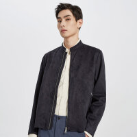 【2件2.5到手价:189】MECITY男装春秋时尚立领都市感夹克外套帅气