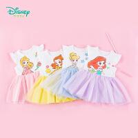 迪士尼Disney童装 女童连衣裙迪斯尼公主网纱裙子夏季新品儿童清凉裙装