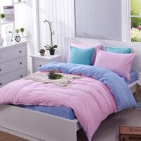 简约纯色被套床单四件套夏季床上用品三件套4单人1.5双人床1.8m 1.5m (5英尺) 床
