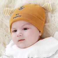 新生儿帽子秋冬0-3-6-12个月婴儿帽子男女宝宝帽子初生胎帽冬