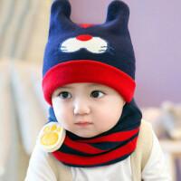 婴儿帽子0-3-6-12个月男女童帽宝宝帽子1-2岁春秋冬季保暖毛线帽