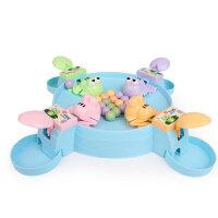 疯狂贪吃青蛙亲子互动吃豆豆球儿童桌游青蛙吃豆玩具