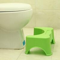 加厚坐便�|�_凳�和�塑料增高如��蹲便�o助�R桶登防滑�_�| 加厚款�G色承重400斤 凳高17厘米500克