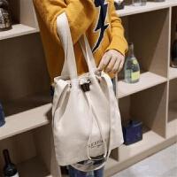 新款韩版帆布包女单肩斜挎大包包学生文艺布袋包百搭手提布包