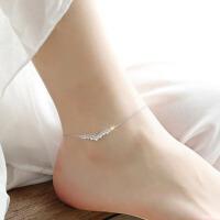气质皇冠的后裔脚链女925银饰品百搭配饰送女友爱人生日礼物