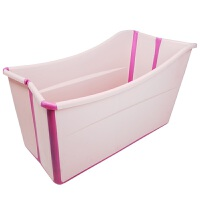 儿童折叠浴盆加大号宝宝洗澡桶新生婴儿可坐躺洗澡盆小孩游泳浴桶