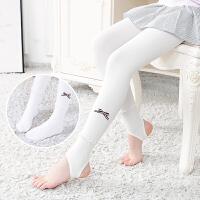 春秋新品儿童连裤袜女童薄款连体袜中大童外穿白色踩脚袜舞蹈袜