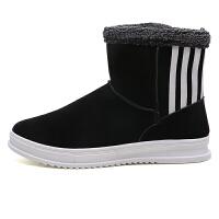冬季雪地靴男士棉鞋加厚加绒保暖棉中帮马丁男靴子