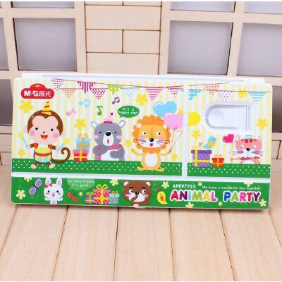 晨光文具印花调色盒APE97722可爱学生儿童水粉水彩调色盘塑料 满50包邮