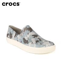 Crocs男鞋卡骆驰都会街头洛卡迷彩男平底凉鞋男士一脚蹬便鞋|204526 都会街头洛卡浅迷彩便鞋