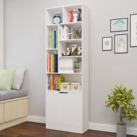 简约白色创意落地书架书柜现代儿童欧式组合卧室书架置物架收纳架