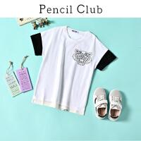 【3件2折:37.8】铅笔俱乐部童装2020夏季男童短袖T恤中大童运动半袖儿童圆领上衣