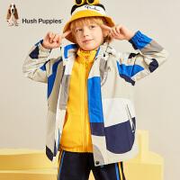 【秒杀价:199元】暇步士童装男童外套春秋装新款大童风衣宝宝薄款连帽儿童冲锋衣