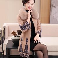 中老年女装秋装外套风衣中年妇女装长袖毛衣妈妈装冬季针织衫上衣