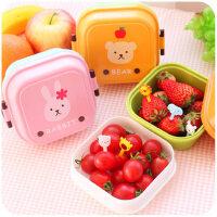 卡通儿童韩国便当盒小学生可爱分格带盖保鲜餐饭盒迷你便携水果盒
