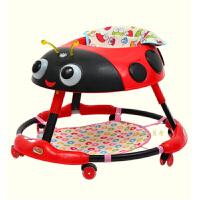 婴儿学步车6/7-18个月宝宝音乐学行车侧翻手推可坐多功能可折叠K29
