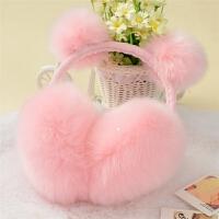 韩版冬季可爱蝴蝶结耳罩兔耳朵包毛耳包时尚冬天耳罩保暖耳罩护耳