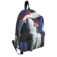 FREEIN原创设计复古新款印花书包春夏新品涂鸦双肩包做旧包包男女生潮流背包旅行包
