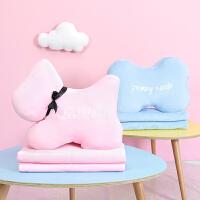 抱枕被子两用办公室午睡枕头汽车珊瑚绒腰靠枕靠垫学生毯子
