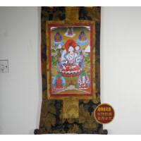 藏传佛教用品高档双层缝制唐卡 精品高仿镀金白度母 唐卡(87*47)