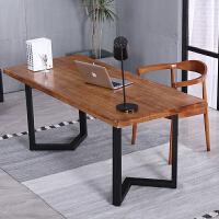 实木台式电脑桌简约现代实木大板桌家用电脑桌书桌会议桌办公桌子 240*80*78 实木厚8厘米自然边