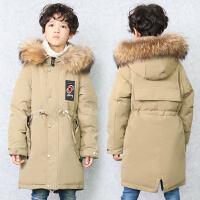2018新款儿童羽绒服中长款男童冬季韩版加厚童装品牌