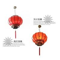 喜庆大红灯笼/现代中式阳台吊灯/羊皮灯笼/户外灯笼/防水灯笼
