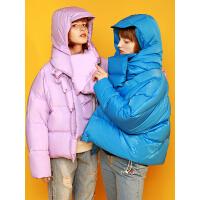 【1件3折价:374.5元】初语羽绒服外套女20新款时尚短款宽松白鸭绒小个子收腰面包服