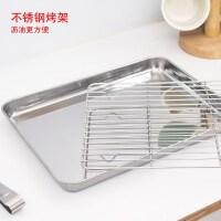 304不锈钢长方形家用烤箱烤盘 沥油烤架肠粉盘小烤盘烧烤烤肉方盘
