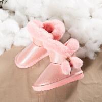 女童雪地靴2018冬季新款儿童短靴韩版雪地棉防水棉靴加绒加厚童鞋