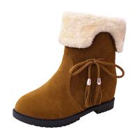 尚恩麦品牌2018冬季新款韩版雪地靴女鞋短筒加绒保暖平底平跟学生靴子女棉鞋