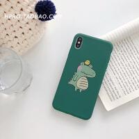 卡通小鳄鱼8plus苹果x手机壳XS Max/XR/iPhoneX/7p/6女iphone6s套 6/6s 小鸡鳄鱼