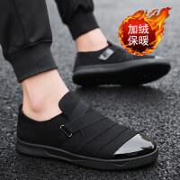 冬季男鞋韩版潮流男士运动休闲板鞋加绒保暖棉鞋百搭潮鞋