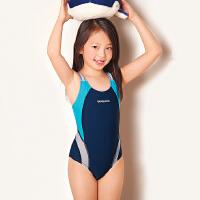 儿童泳衣连体女童中大童女孩学生专业游泳衣女