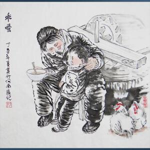 陕西省美协 中国西部著名黄土派画家 张纪  乖蛋  /05