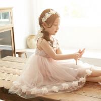 女童连衣裙夏装韩版夏季洋气裙子儿童中大童装女孩公主裙